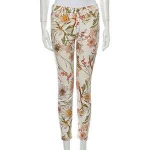 7 for all Mankind Skinny Leg Floral jeans
